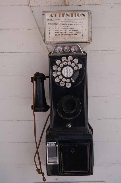 Old rotary telephone